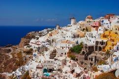 GREECE, SANTORINI, OIA TOWN. Oia,Santorin town, Greece in Summer Royalty Free Stock Photography