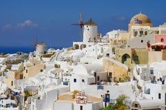 GREECE, SANTORINI, OIA TOWN. Santorini, Greece, Oia town in sunny day Stock Images