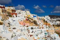 GREECE, SANTORINI, OIA TOWN. Santorini, Greece, Oia town in sunny summer day Royalty Free Stock Photography