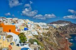 GREECE, SANTORINI, OIA TOWN. Oia, Santorini, Greece in sunny summer day Royalty Free Stock Photography