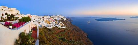 greece santorinisolnedgång arkivbilder