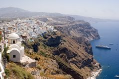 greece santorinithira Arkivbilder