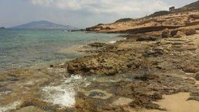 Greece. Schinoussa oktober 2018. Beach. stock photo