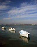 Greece, Sea, Fishing boats Stock Photos