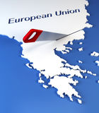 Greece secession from European Union. 3d rendering Royalty Free Stock Photos