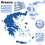 greece set Fotografia Royalty Free