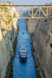 Greece. Ships in the Corinth Canal Royalty Free Stock Images