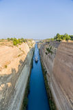 Greece. Ships in the Corinth Canal2 Royalty Free Stock Image