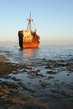 Greece, shipwreck royalty free stock images