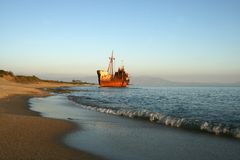 Greece, Shipwreck Royalty Free Stock Photography