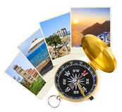 Greece shots and compass Stock Photos