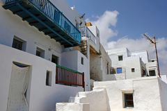 Landscape of Sifnos island, Cyclades islands, Greece royalty free stock photos