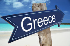 GREECE sign. On the beach Royalty Free Stock Image