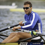 Greece single sculls Stock Image