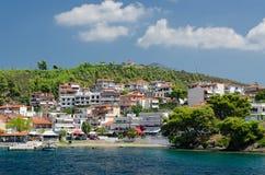 Greece, Sithonia, embankment in Neos Marmaras Royalty Free Stock Photos