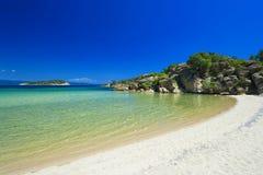 Greece - Sithonia peninsula. Greek - Chalkidiki region - Sithonia peninsula - The beach of Talgo bay royalty free stock photography