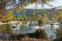 Greece, sithonia peninsula boats Royalty Free Stock Images