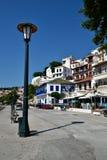 Greece, Skopelos Island, Skopelos Town. Facade of Buildings of Skopelos Town Stock Photography