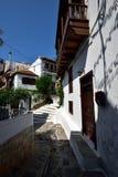 Greece, Skopelos Island, Skopelos Town. Typical Alley at Skopelos Town Stock Photo