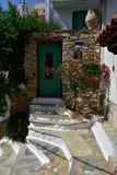Greece, Skopelos Island, Skopelos Town. Typical Alley at Skopelos Town Stock Photography