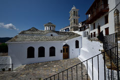 Greece, Skopelos Island, Skopelos Town. Typical White Alley at Skopelos Town Stock Images