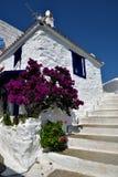 Greece, Skopelos Island, Skopelos Town. White Building at Skopelos Town Royalty Free Stock Image