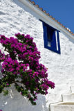 Greece, Skopelos Island, Skopelos Town. White Building at Skopelos Town Stock Image