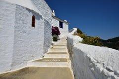 Greece, Skopelos Island, Skopelos Town. White Buildings at Skopelos Town Royalty Free Stock Photography
