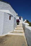 Greece, Skopelos Island, Skopelos Town. White Buildings at Skopelos Town Stock Image