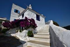 Greece, Skopelos Island, Skopelos Town. White Buildings at Skopelos Town Stock Photography