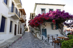 Greece Skopelos Town Sporades Islands. Typical alley houses on the island of Skopelos, Greece Stock Photography