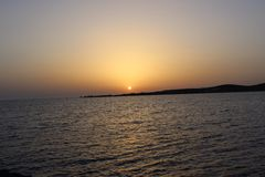 greece solnedgång Arkivfoto