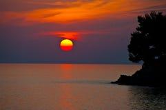 greece solnedgång Royaltyfria Foton