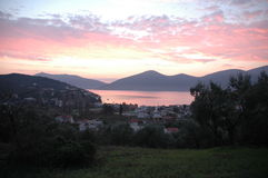 greece soluppgång Arkivbild