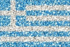 Greece sparkling flag stock illustration