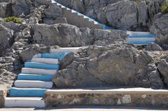 Greece stairs Stock Photography
