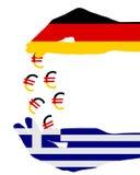 greece subventioner vektor illustrationer