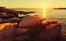 Greece sunset Royalty Free Stock Photos