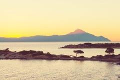 Greece sunset Royalty Free Stock Image