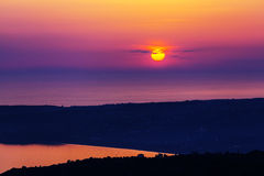 Greece sunset Stock Photography