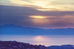 Greece sunset Royalty Free Stock Photography
