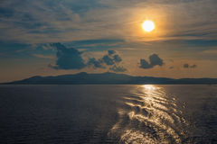 Greece - Sunset among the Cyclades islands Stock Photos