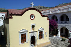 Greece,Symi island,Panormitis monastery. Royalty Free Stock Image