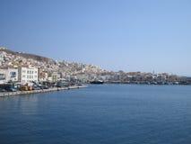 greece syros Arkivfoton