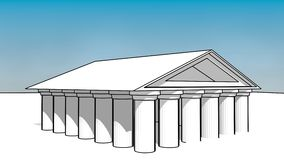 Greece temple Stock Photography