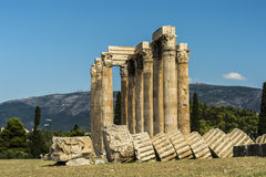 Greece Temple of Olympian Zeus Royalty Free Stock Photo