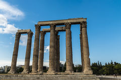 Greece Temple of Olympian Zeus Stock Images