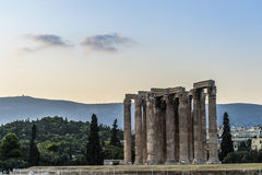 Greece Temple of Olympian Zeus Stock Photography