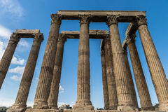 Greece Temple of Olympian Zeus Royalty Free Stock Photos