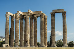 Greece Temple of Olympian Zeus Stock Image